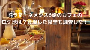 ドラマ,ネメシス,6話,カフェ